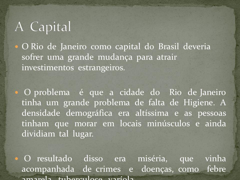 A Capital O Rio de Janeiro como capital do Brasil deveria sofrer uma grande mudança para atrair investimentos estrangeiros.