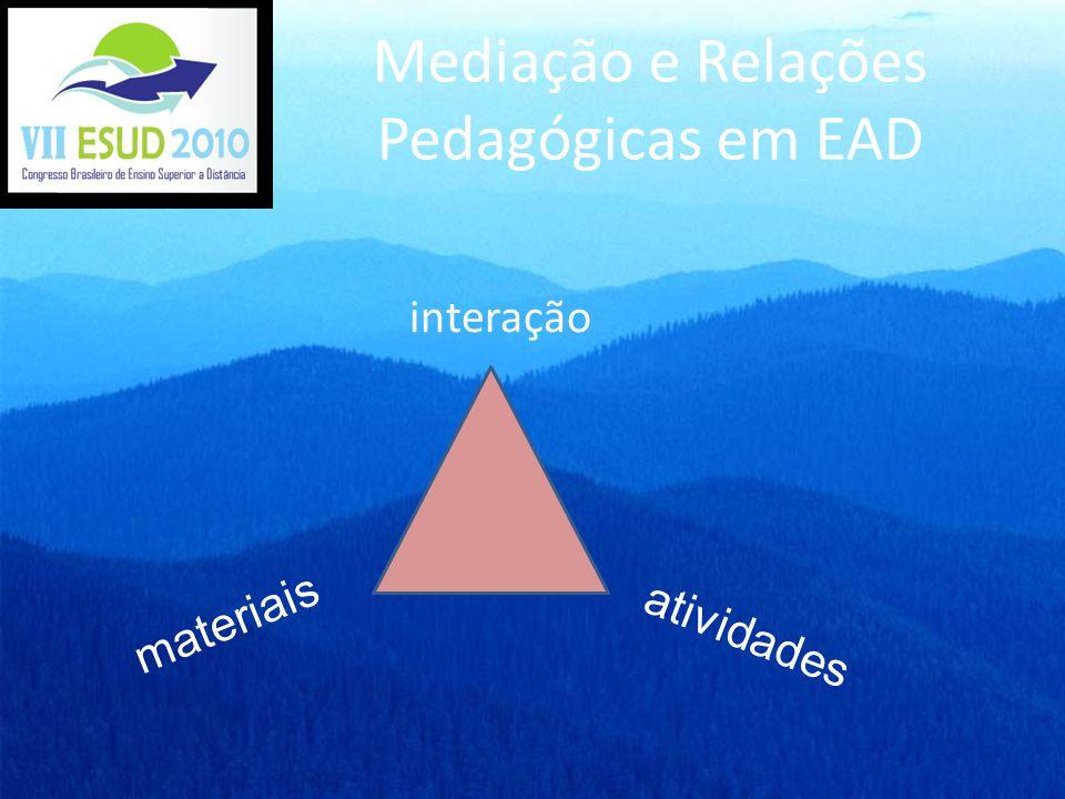 Mediação e Relações Pedagógicas em EAD