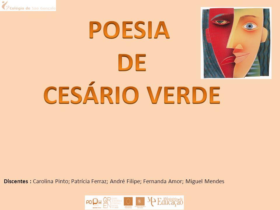 POESIA DE CESÁRIO VERDE