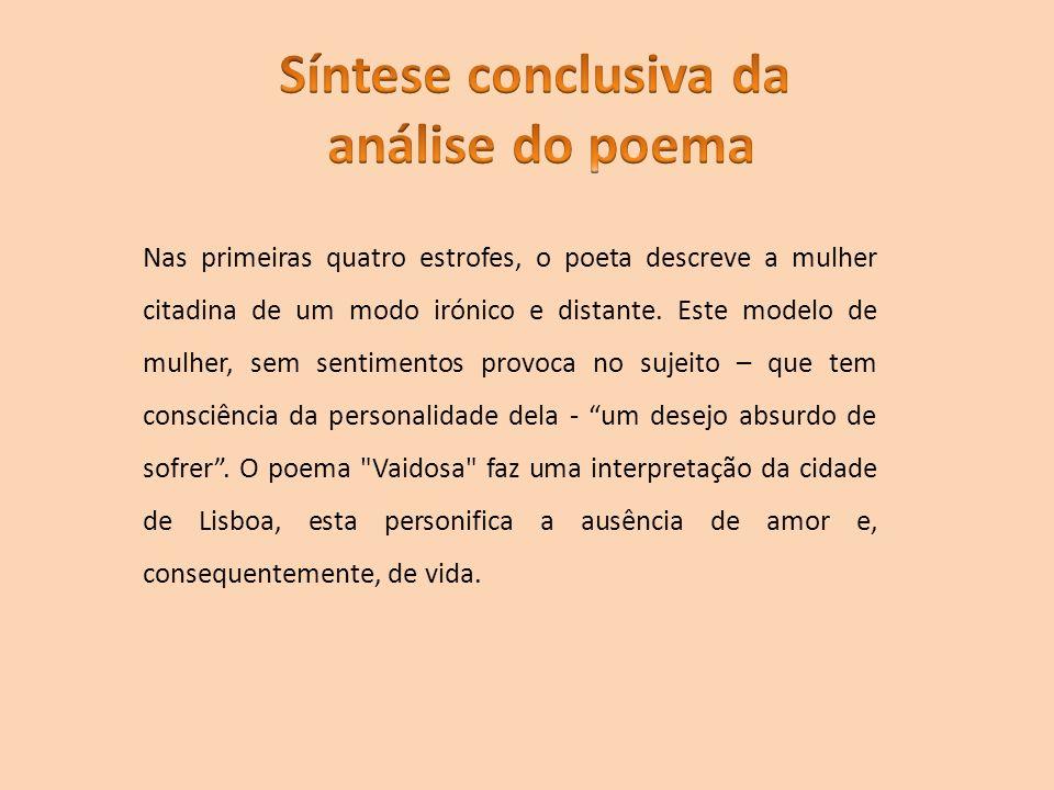 Síntese conclusiva da análise do poema