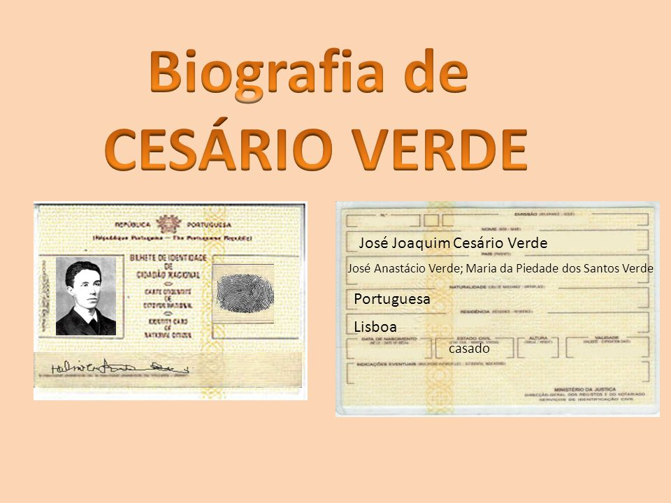 Biografia de CESÁRIO VERDE
