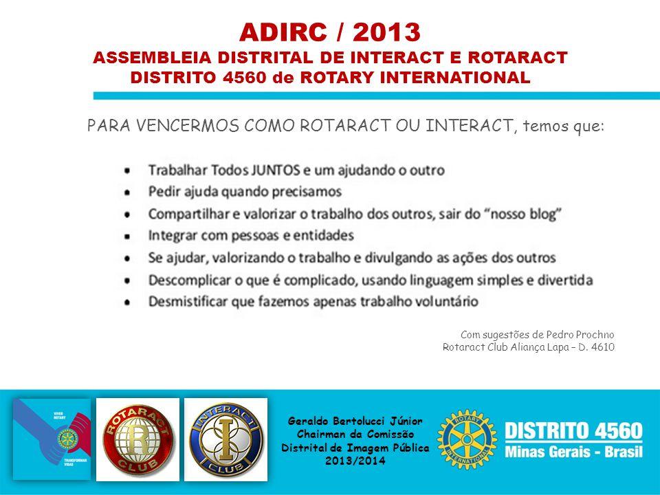ADIRC / 2013 ASSEMBLEIA DISTRITAL DE INTERACT E ROTARACT