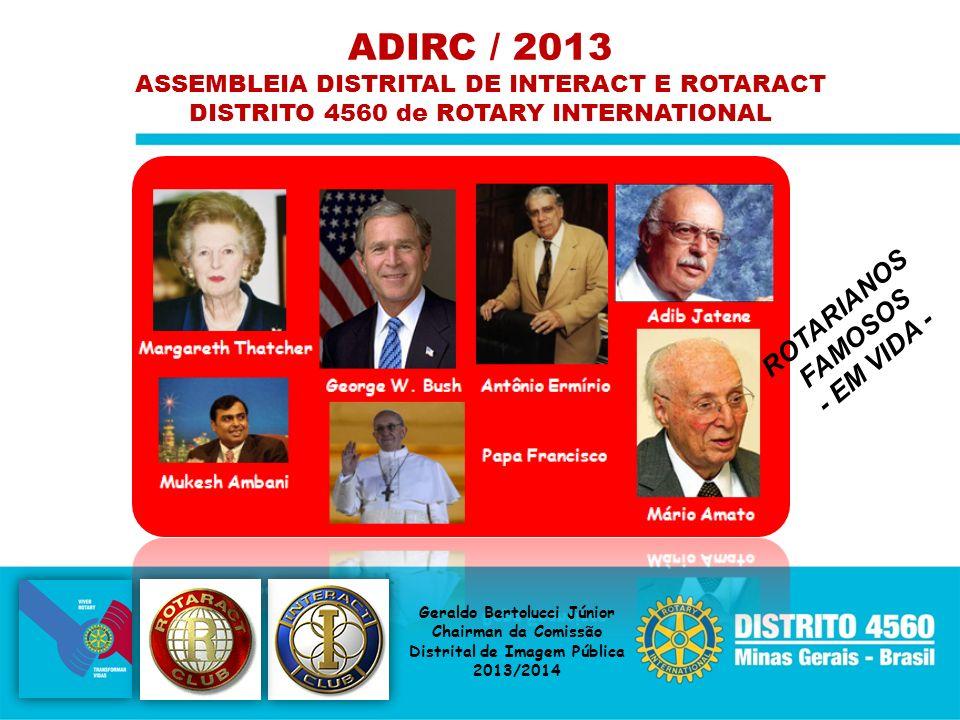ADIRC / 2013 ROTARIANOS FAMOSOS - EM VIDA -