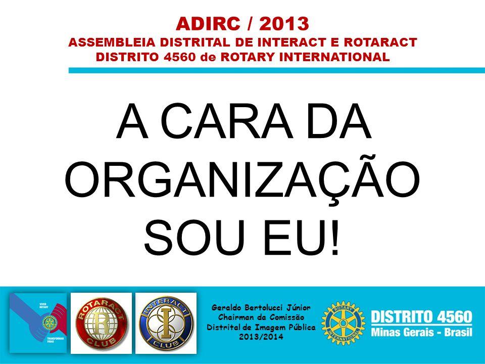 A CARA DA ORGANIZAÇÃO SOU EU! ADIRC / 2013