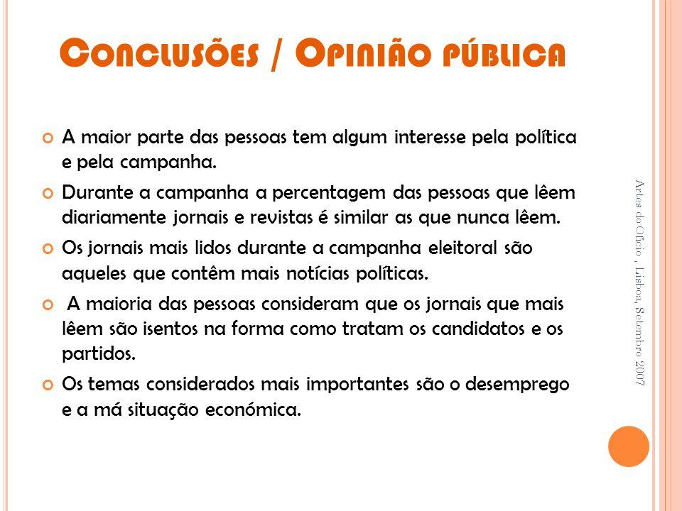 Conclusões / Opinião pública