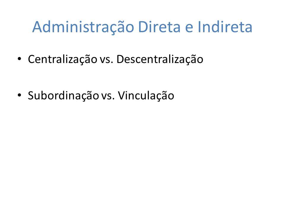Administração Direta e Indireta