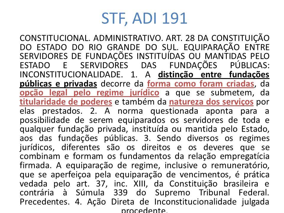 STF, ADI 191