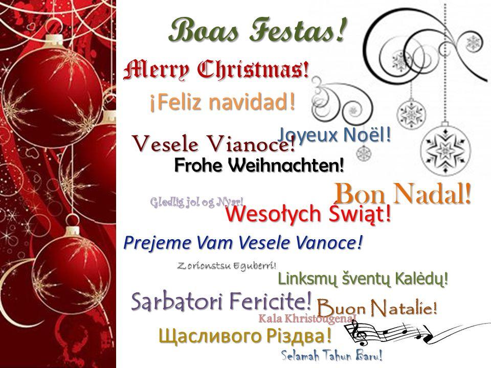Boas Festas! Bon Nadal! Merry Christmas! Vesele Vianoce!