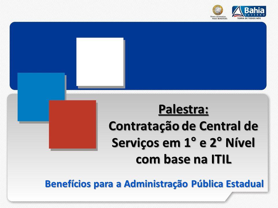 Contratação de Central de Serviços em 1° e 2° Nível com base na ITIL