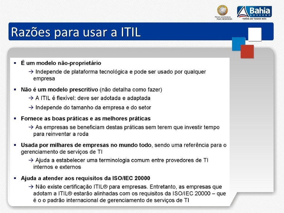 Razões para usar a ITIL