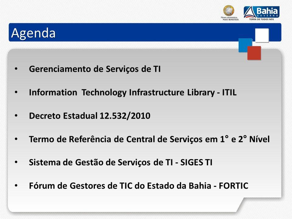 Agenda Gerenciamento de Serviços de TI