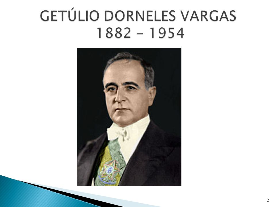 GETÚLIO DORNELES VARGAS 1882 - 1954