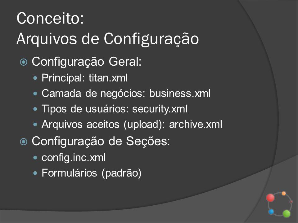 Conceito: Arquivos de Configuração