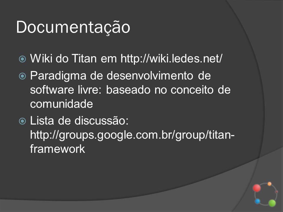 Documentação Wiki do Titan em http://wiki.ledes.net/