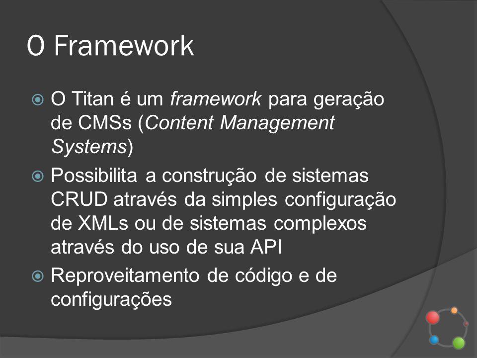 O Framework O Titan é um framework para geração de CMSs (Content Management Systems)