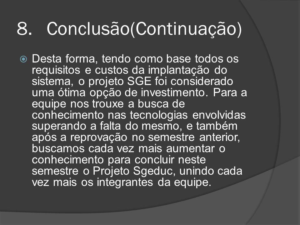 Conclusão(Continuação)
