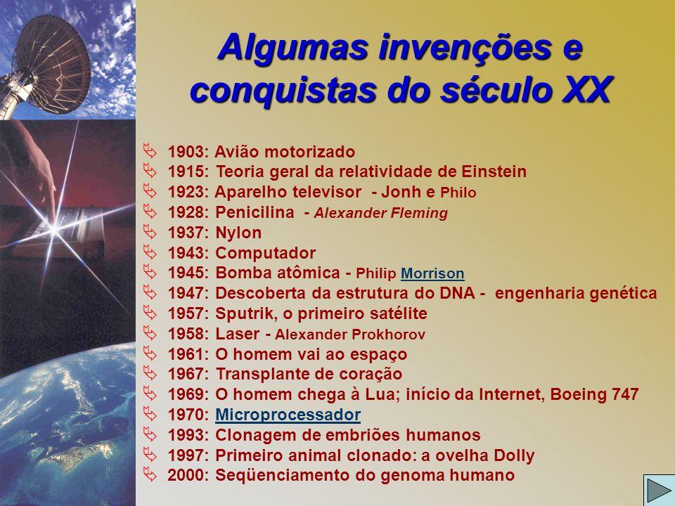 Algumas invenções e conquistas do século XX
