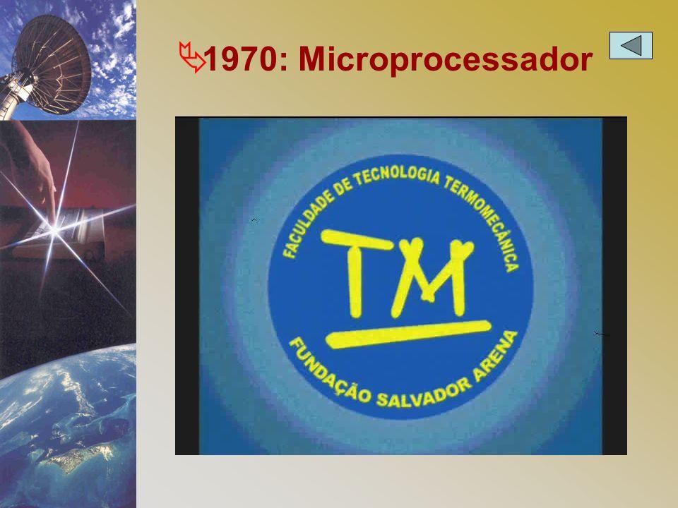 1970: Microprocessador