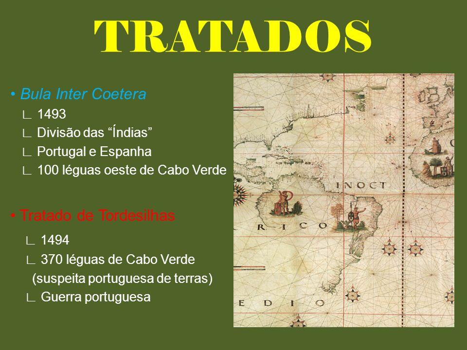 TRATADOS ∟ 1494 • Bula Inter Coetera • Tratado de Tordesilhas ∟ 1493