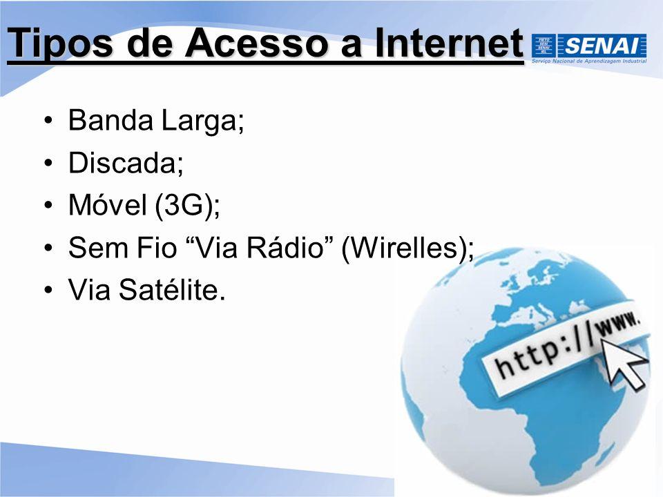 Tipos de Acesso a Internet