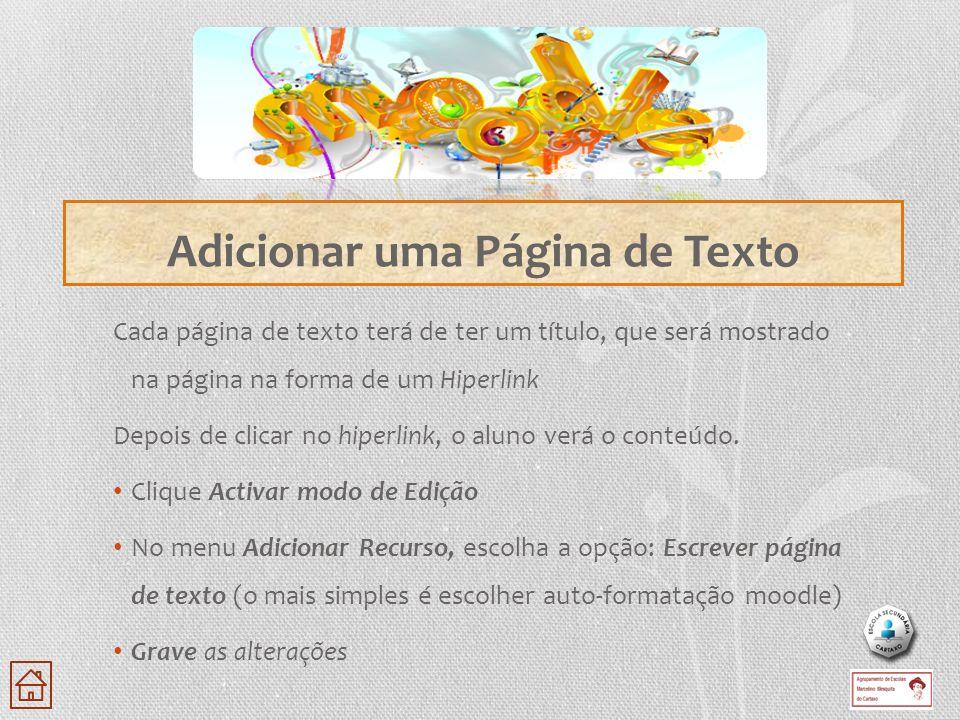 Adicionar uma Página de Texto