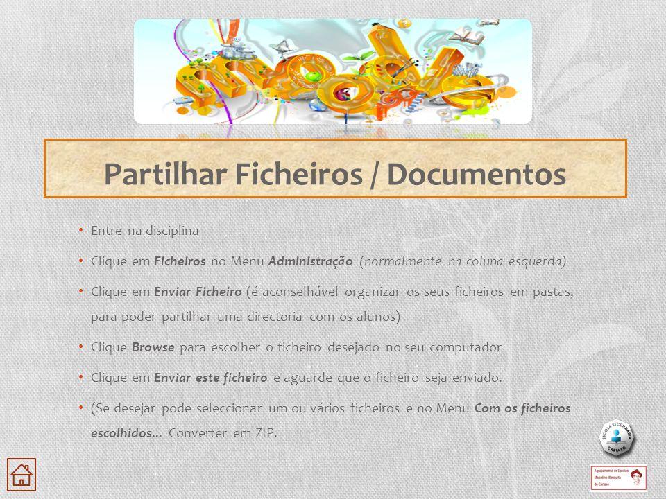 Partilhar Ficheiros / Documentos
