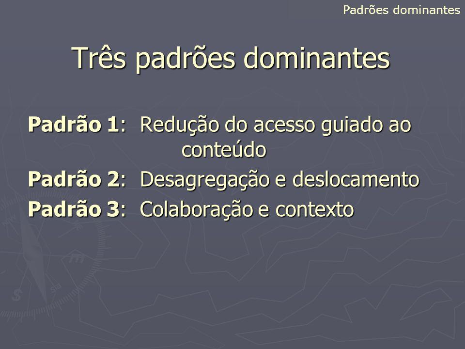 Três padrões dominantes