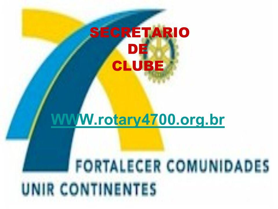 SECRETARIO DE CLUBE WWW.rotary4700.org.br