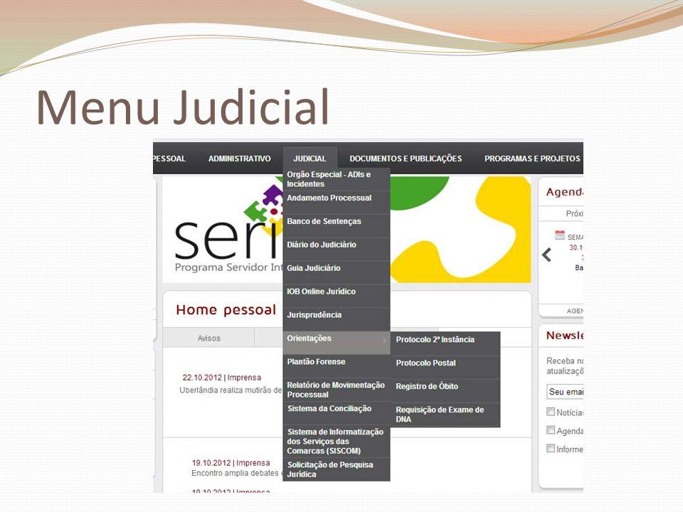 Menu Judicial