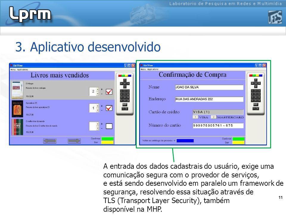 3. Aplicativo desenvolvido