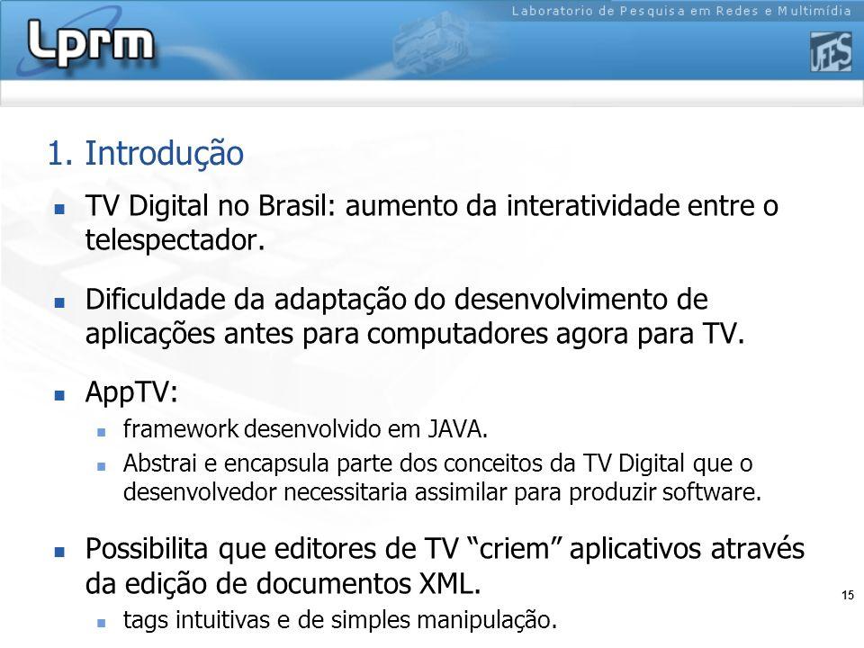 1. Introdução TV Digital no Brasil: aumento da interatividade entre o telespectador.