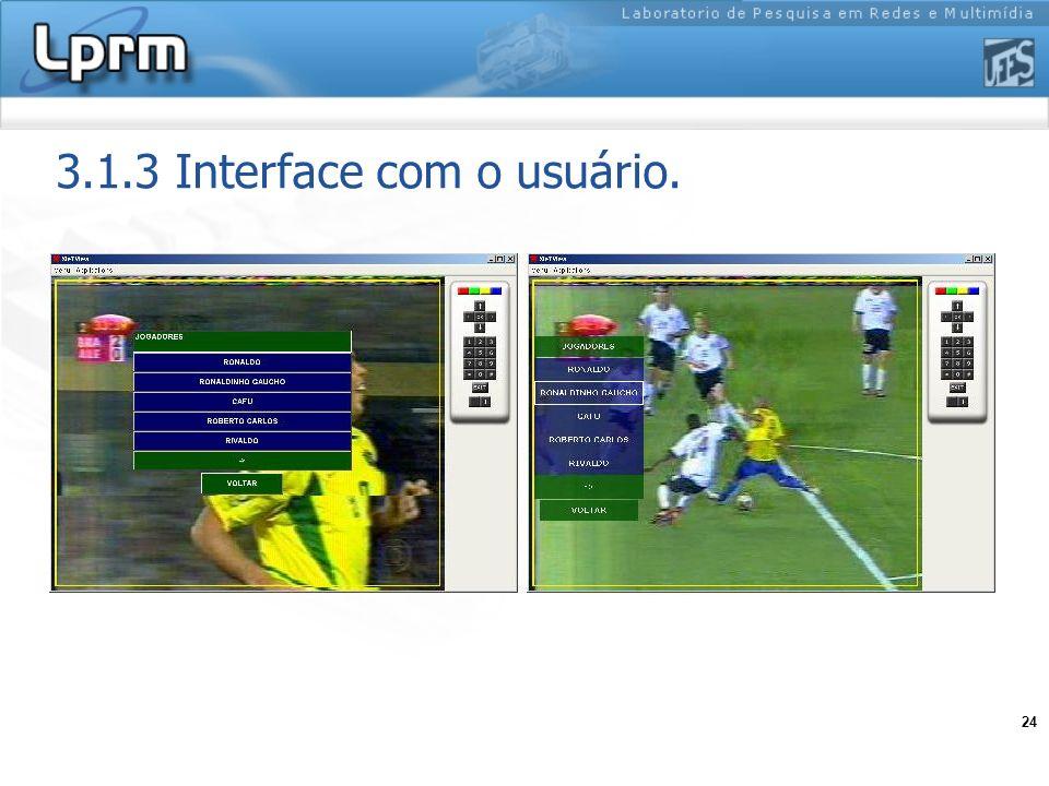 3.1.3 Interface com o usuário.