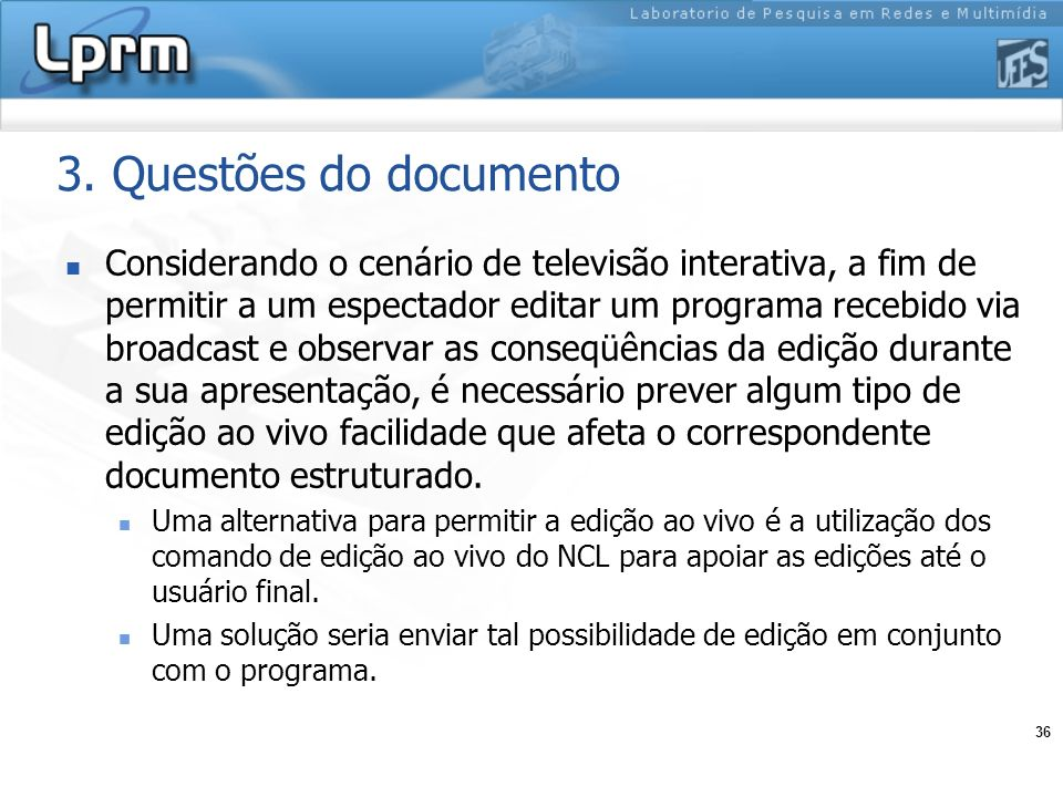 3. Questões do documento
