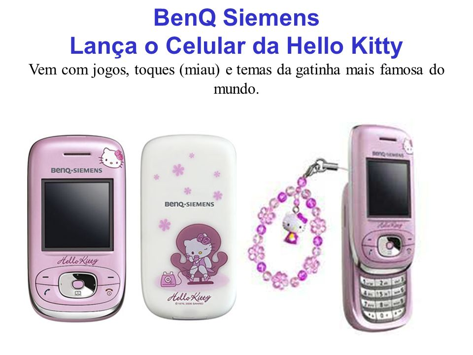 Lança o Celular da Hello Kitty