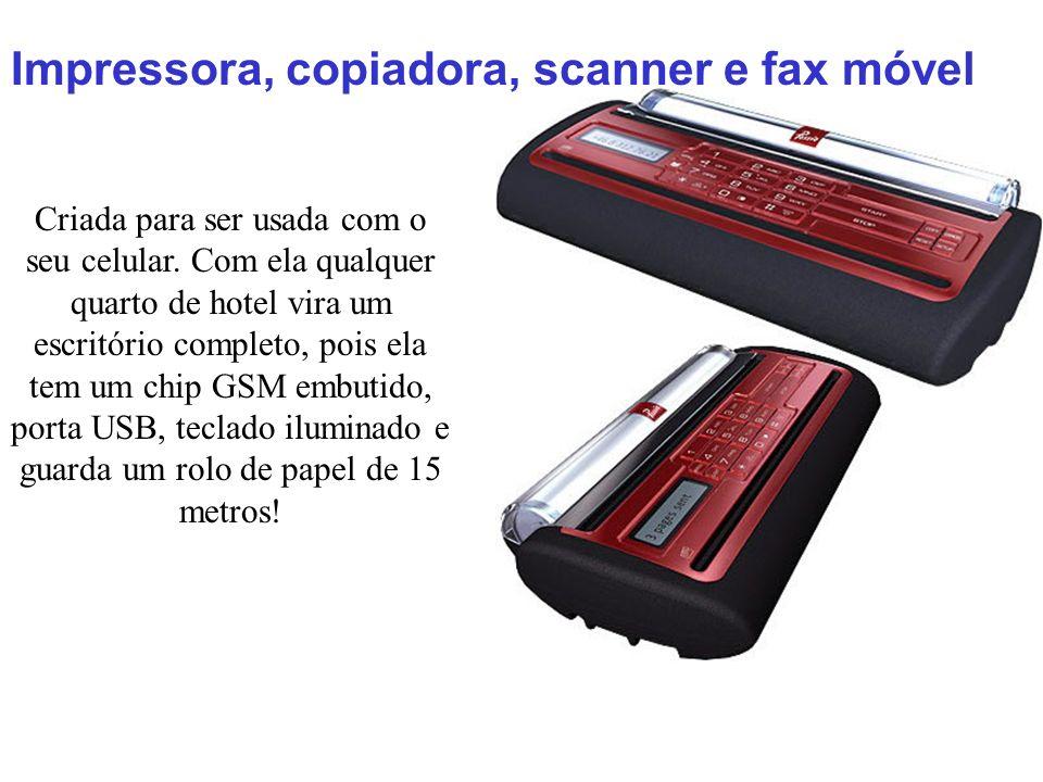 Impressora, copiadora, scanner e fax móvel