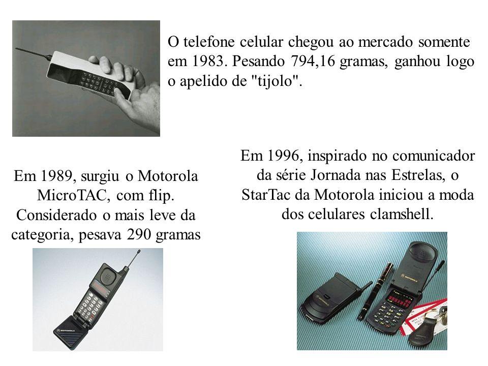 O telefone celular chegou ao mercado somente em 1983