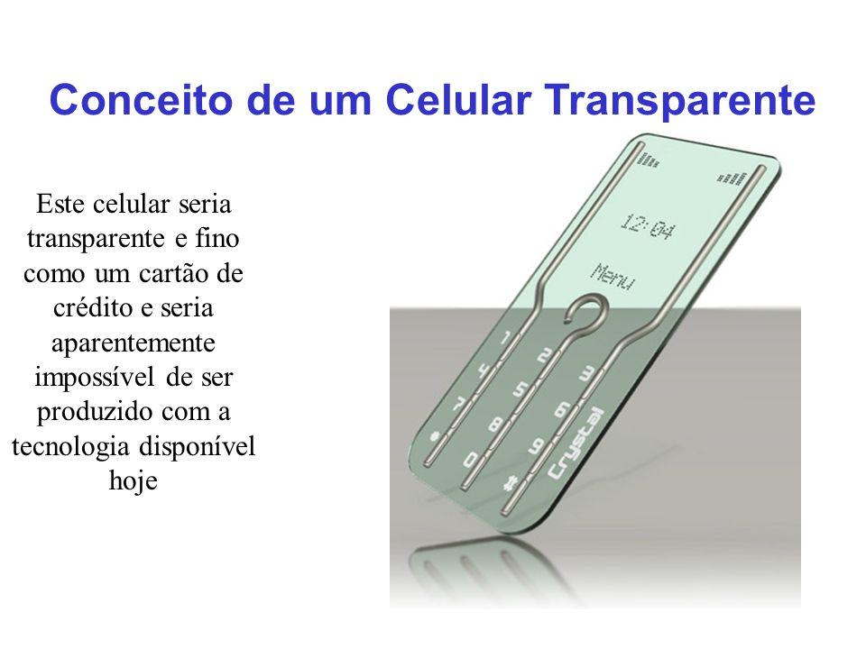 Conceito de um Celular Transparente