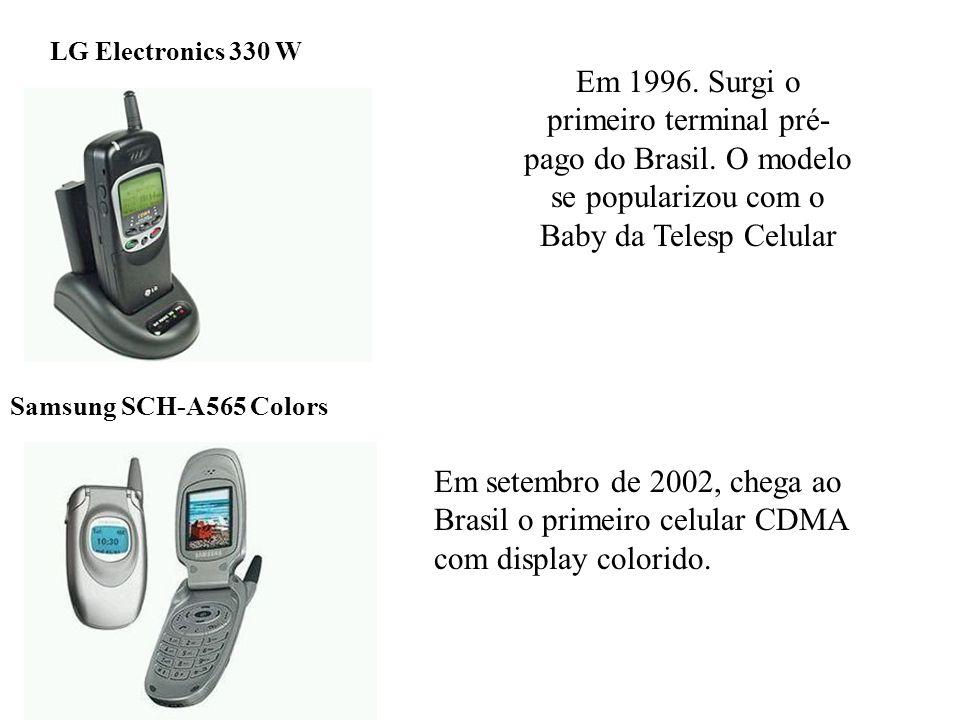 LG Electronics 330 W Em 1996. Surgi o primeiro terminal pré-pago do Brasil. O modelo se popularizou com o Baby da Telesp Celular.