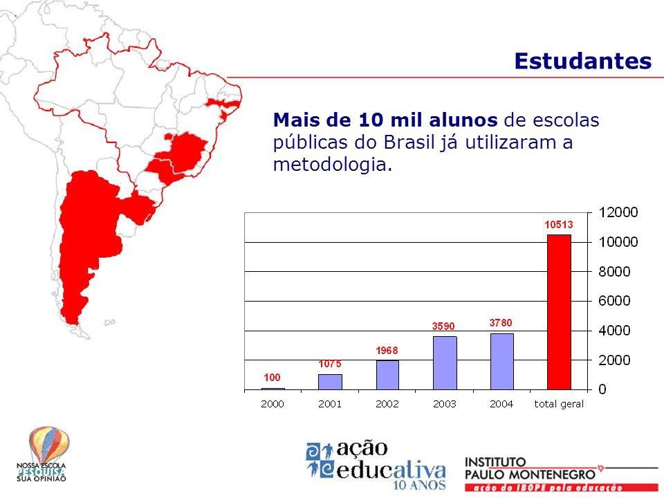 Estudantes Mais de 10 mil alunos de escolas públicas do Brasil já utilizaram a metodologia.