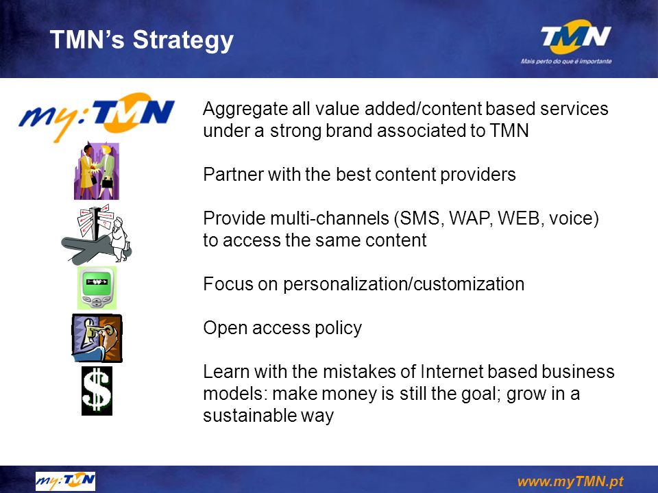 TMN's Strategy Aggregate all value added/content based services