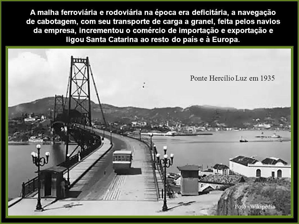 A malha ferroviária e rodoviária na época era deficitária, a navegação de cabotagem, com seu transporte de carga a granel, feita pelos navios da empresa, incrementou o comércio de importação e exportação e ligou Santa Catarina ao resto do país e à Europa.