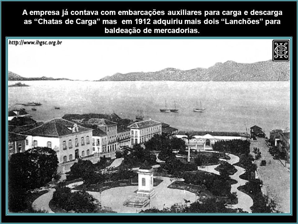 A empresa já contava com embarcações auxiliares para carga e descarga as Chatas de Carga mas em 1912 adquiriu mais dois Lanchões para baldeação de mercadorias.