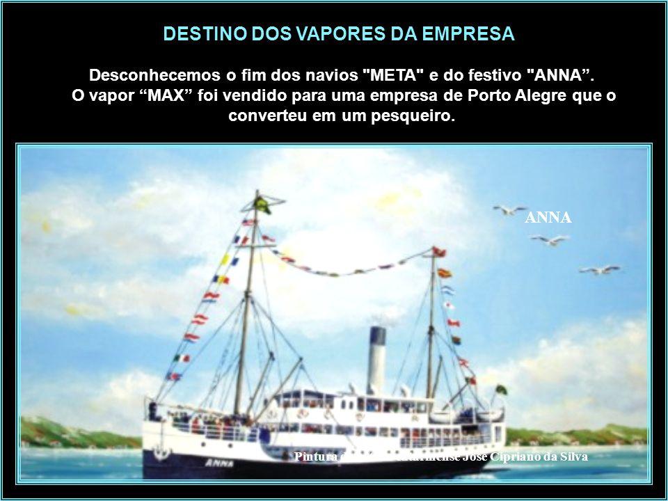 DESTINO DOS VAPORES DA EMPRESA