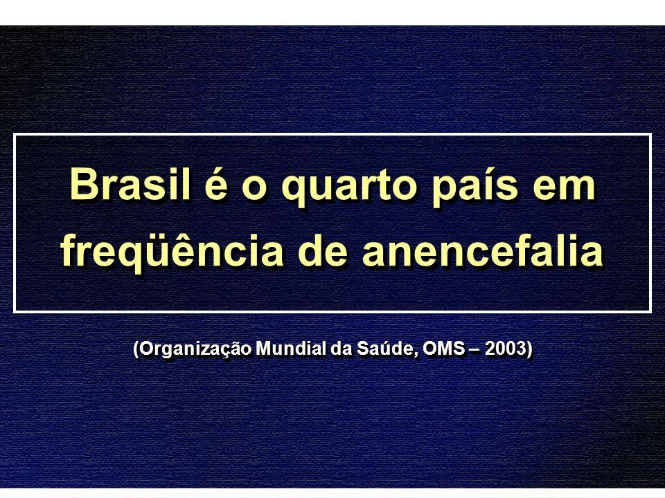 Brasil é o quarto país em freqüência de anencefalia