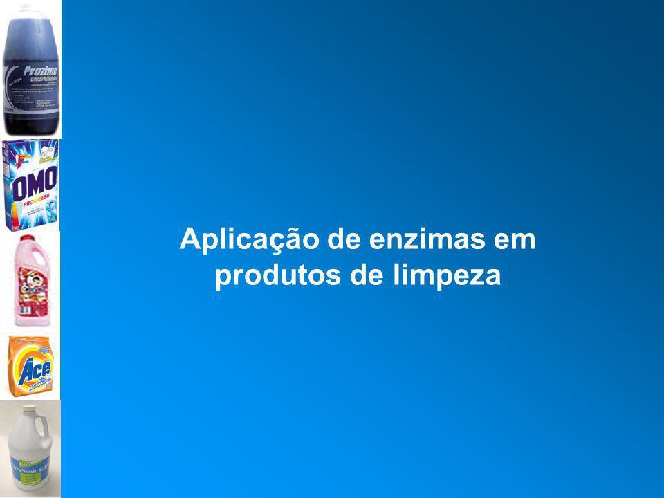 Aplicação de enzimas em produtos de limpeza