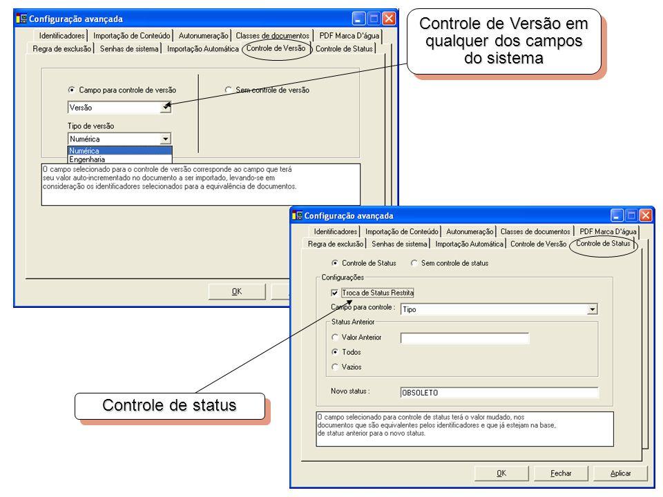 Controle de Versão em qualquer dos campos do sistema