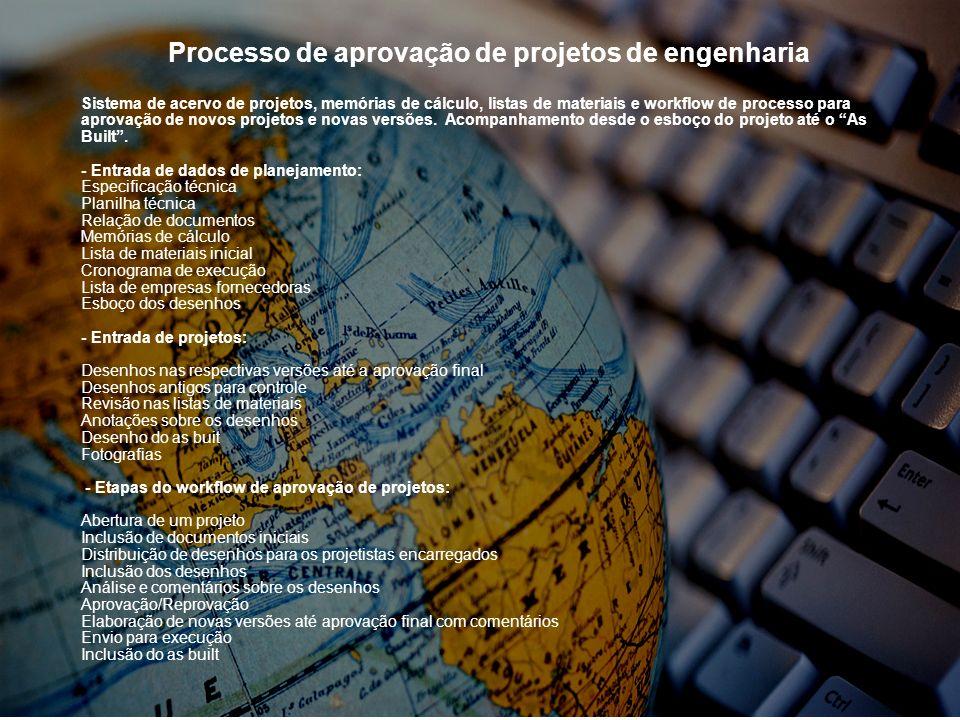 Processo de aprovação de projetos de engenharia
