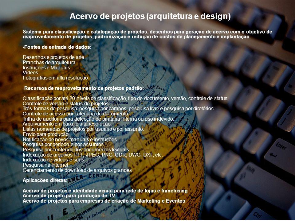 Acervo de projetos (arquitetura e design)