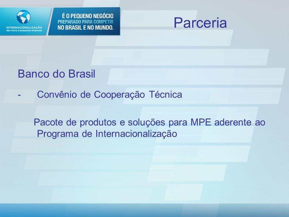 Parceria Banco do Brasil Convênio de Cooperação Técnica