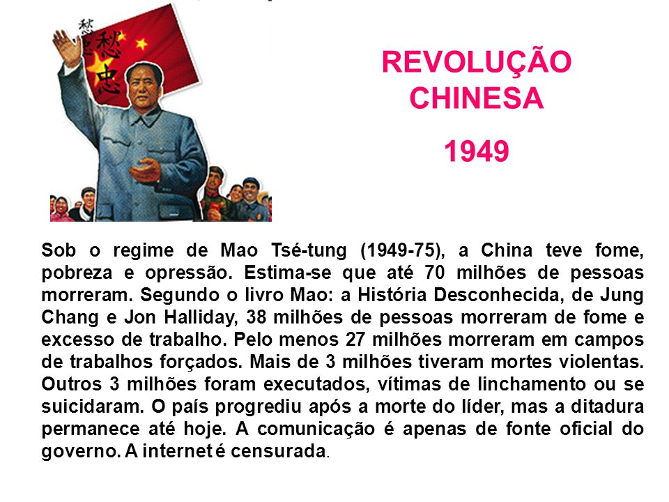 REVOLUÇÃO CHINESA 1949.